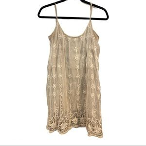Charming Charlie Lace Overlay Tunic size LG